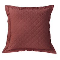 HiEnd Accents Diamond Pattern Linen Quilted Euro Sham