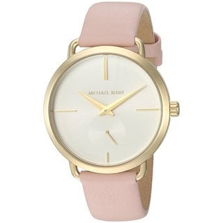 Michael Kors Women's MK2659 Portia White Dial Blush Pink Leather Watch