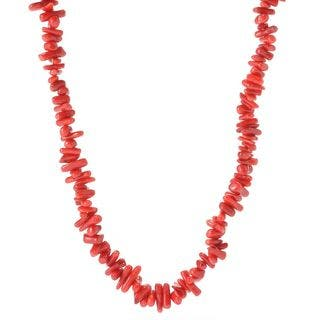 Michael Valitutti Palladium Silver Freeform Red Bamboo Coral Toggle Necklace|https://ak1.ostkcdn.com/images/products/15950399/P22349695.jpg?impolicy=medium
