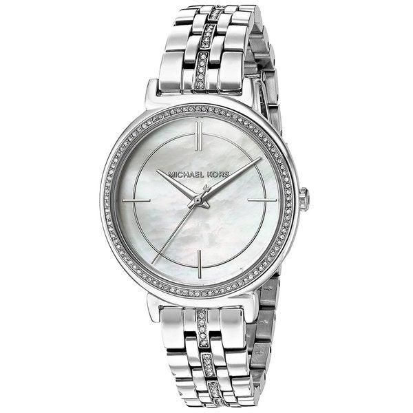 08dcd6aff1684 Shop Michael Kors Women s MK3641 MOP Dial Silver Steel Watch - Free  Shipping Today - Overstock - 15950418