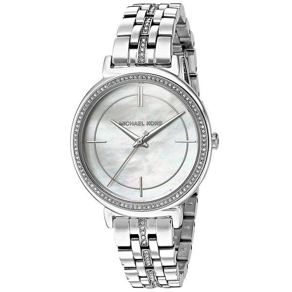 Michael Kors Women's MK3641 MOP Dial Silver Steel Watch
