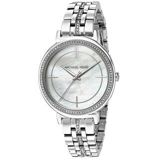 Michael Kors Women's MK3641 MOP Dial Silver Steel Watch
