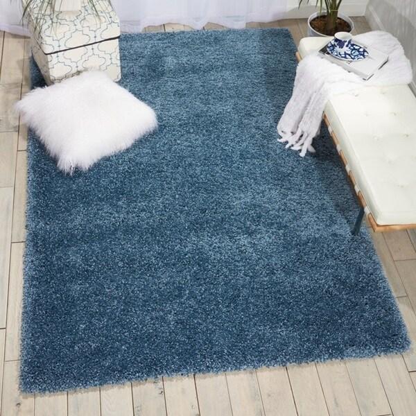 Shop Nourison Amore Slate Blue Shag Area Rug 3 11 Quot X 5