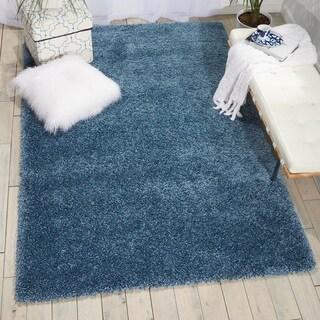 Nourison Amore Slate Blue Shag Area Rug (3'11X5'11 )