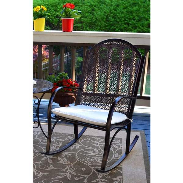 shop tortuga outdoor oiled copper finished metal garden rocking