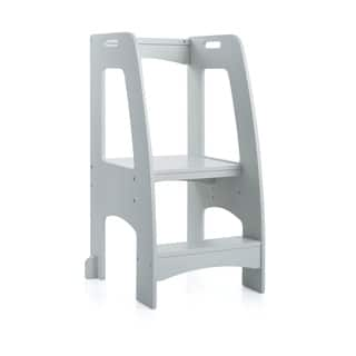 Guidecraft Step-up Kitchen Helper Grey Stepstool|https://ak1.ostkcdn.com/images/products/15950445/P22349765.jpg?impolicy=medium