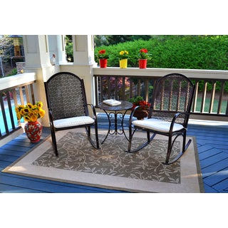 Tortuga Outdoor Garden Rocking Chair 3pc Set
