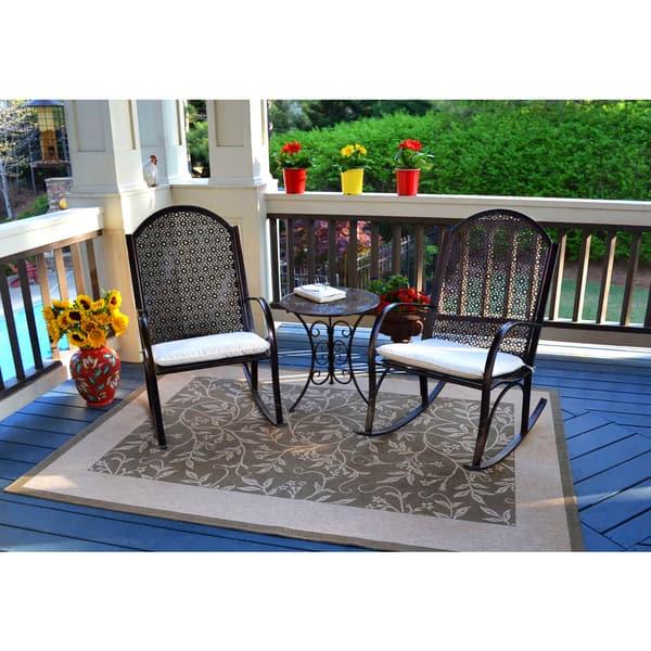 Marvelous Shop Tortuga Outdoor Garden Rocking Chair 3Pc Set On Sale Unemploymentrelief Wooden Chair Designs For Living Room Unemploymentrelieforg