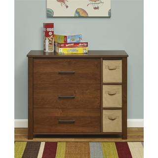 Ameriwood Home Ethan 3 Drawer Dresser with Bins