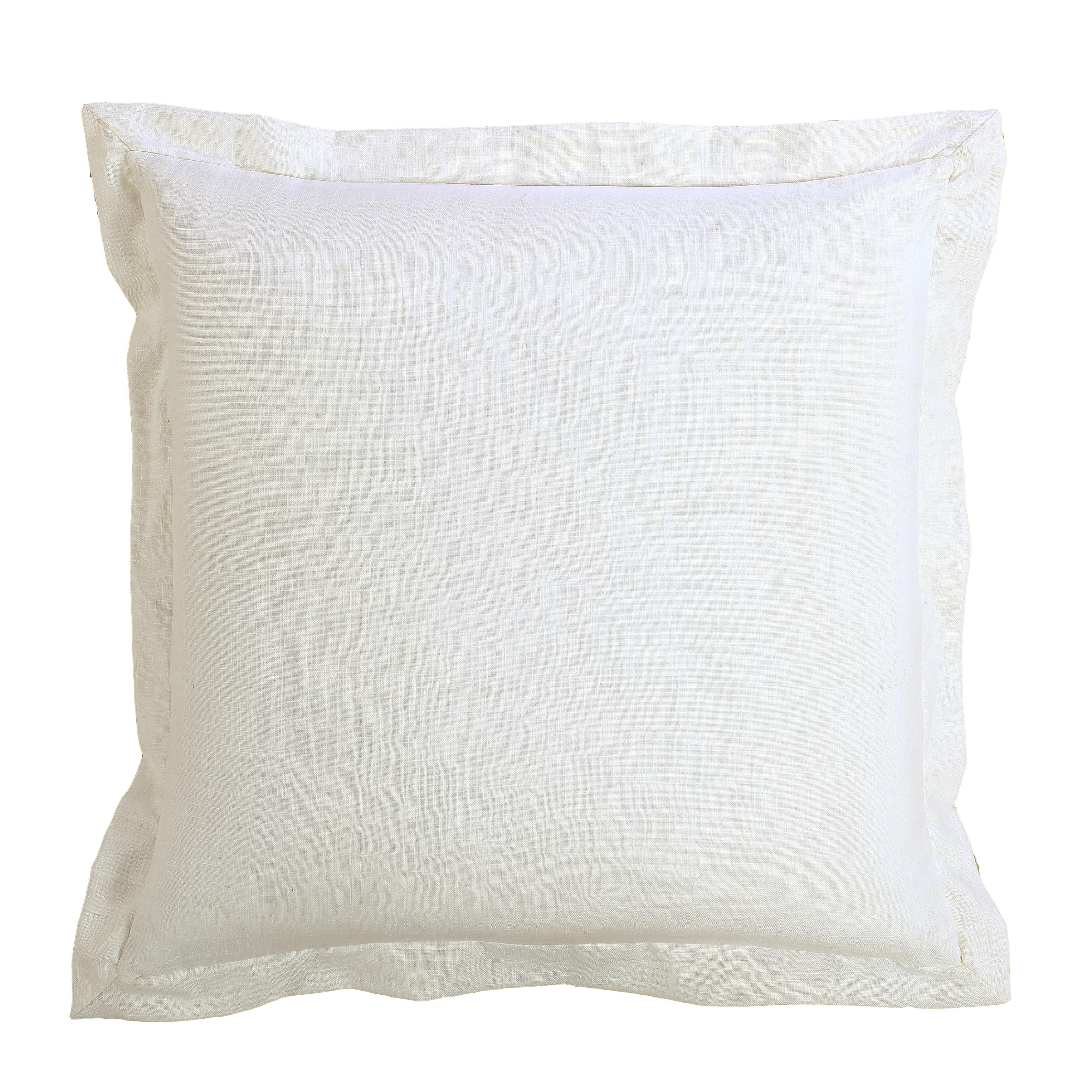 Hiend Accents White Linen Euro Sham Overstock 15950477