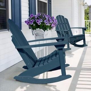 Classic Westport Adirondack Rocking Chair (Option: Cream)