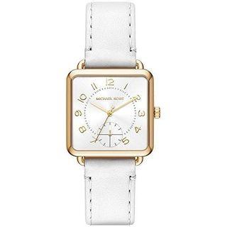 Michael Kors Women's MK2677 'Brenner' White Leather Watch
