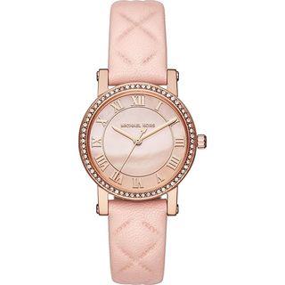Michael Kors Women's MK2683 'Petite Norie' Crystal Blush Leather Watch