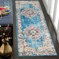 Safavieh Bristol Bohemian Blue/ Grey Polyester Runner Rug - 2' 3 x 8'