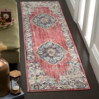 Safavieh Bristol Bohemian Pink/ Grey Polyester Runner Rug (2' 3 x 8')