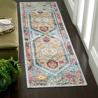 Safavieh Bristol Bohemian Blue/ Camel Polyester Runner Rug (2' 3 x 8')