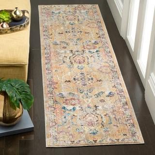 Safavieh Bristol Bohemian Camel/ Blue Polyester Runner Rug (2' 3 x 8')