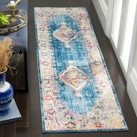 Safavieh Bristol Bohemian Blue/ Ivory Polyester Runner Rug - 2' 3 x 8'