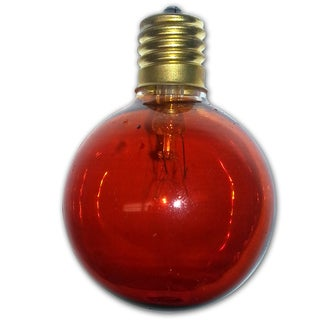 Global Amber Light Bulbs - 12 pack - intermed size bulb. 5-7 Wattage