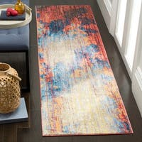 Safavieh Bristol Blue/ Red Polyester Runner Rug (2' 3 x 8')