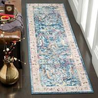 Safavieh Bristol Transitional Blue/ Grey Polyester Runner Rug - 2' 3 x 8'