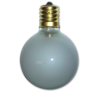 Global Frosted Light Bulbs - 12 pack - intermed size bulb.  5-7 Wattage