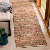 Safavieh Cape Cod Coastal Hand-Woven Natural/ Multi Jute Runner Rug - 2' 3 x 8'