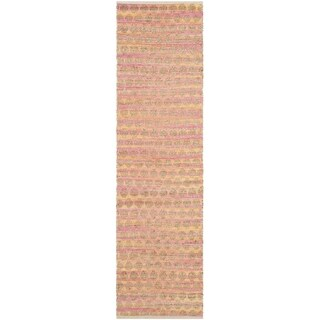 Safavieh Hand-Woven Cape Cod Orange / Natural Cotton Runner (2' 3 x 8')
