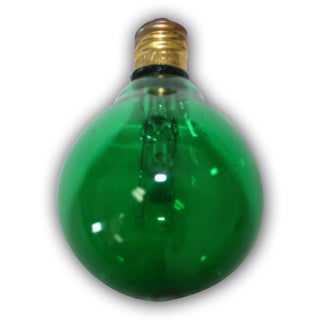 Party Green Light Bulbs - 25 pack- replacement for C7 cord. Candelbra size bulb. 5 Wattage