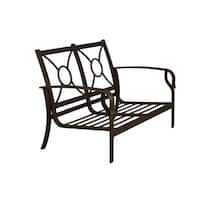 Aspen Aluminum Deep-seating Loveseat without Cushions