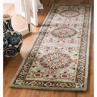 Safavieh Heritage Hand-Woven Wool Grey / Charcoal Area Rug Runner - 2'3 x 8'
