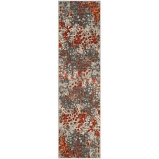 Safavieh Monaco Grey / Orange Area Rug Runner (2'2 x 10')