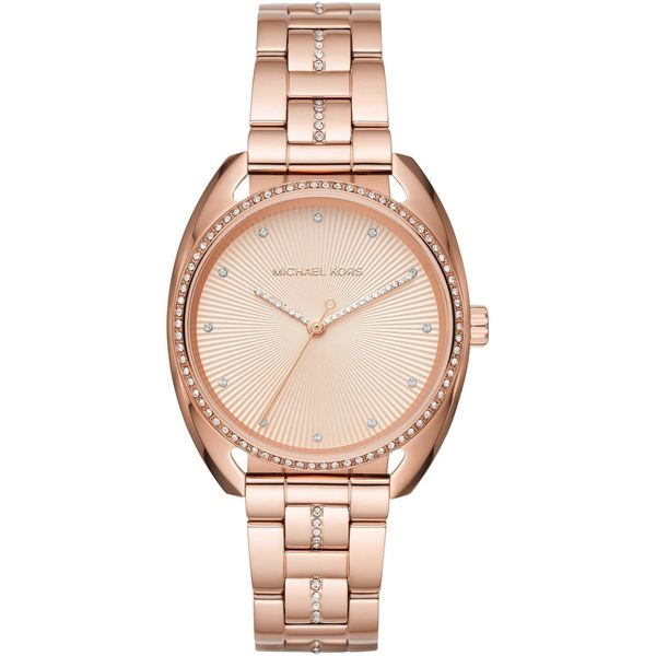 c886f4e70e94 Shop Michael Kors Women s MK3677  Libby  Crystal Rose-Tone Watch - Free  Shipping Today - Overstock - 15950827