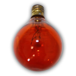 Party Amber Bulbs - 25 pack- replacement for C7 cord. Candelbra size bulb.5 Wattage