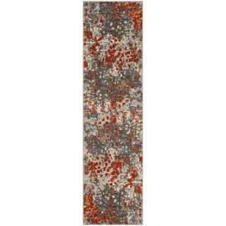 Safavieh Monaco Abstract Watercolor Grey / Orange Runner (2' 2 x 6')