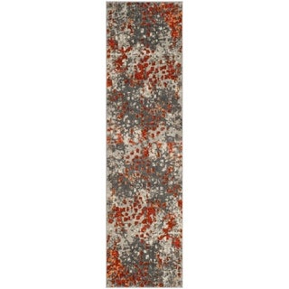 Safavieh Monaco Abstract Watercolor Grey / Orange Runner (2' 2 x 8')