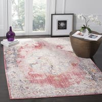 Safavieh Bristol Bohemian Pink/ Grey Polyester Area Rug - 7' x 7' Square