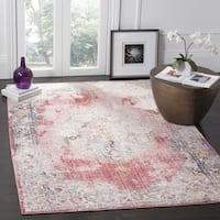 Safavieh Bristol Bohemian Pink/ Grey Polyester Area Rug (7' Square)