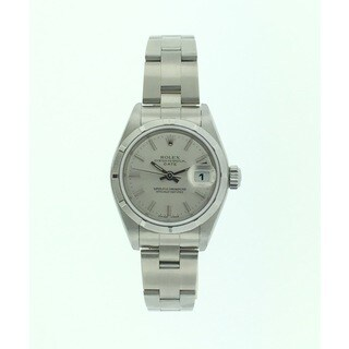 Pre-Owned Rolex Date, Ladies, Stainless Steel, Silver Index Dial, 26mm Watch