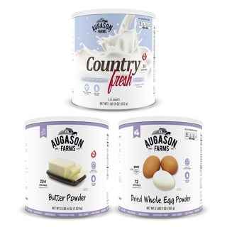 Augason Farms Food Dairy & Egg Combo Kit #10 Can 3-Pack