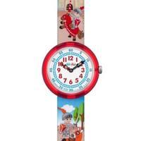 Swatch Kids ZFBNP049 'Flik Flak Castellum' Colorful Fabric Watch