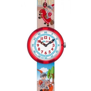 Swatch Kids ZFBNP049 'Flik Flak Castellum' Colorful Fabric Watch