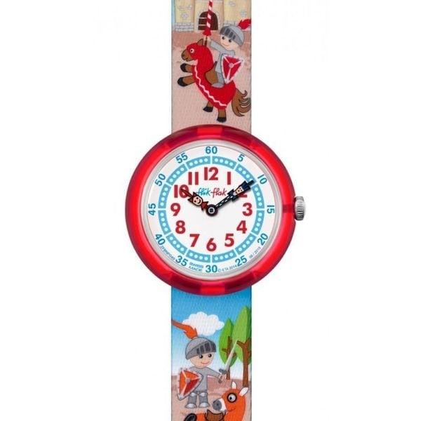 Shop Swatch Kids ZFBNP049  Flik Flak Castellum  Colorful Fabric Watch -  Free Shipping Today - Overstock - 15951233 b77d38430f0