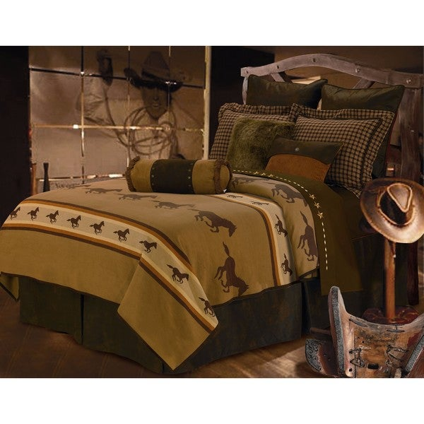 HiEnd Accents Ocala 2 Brown Comforter Set