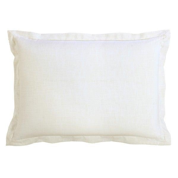 HiEnd Accents White Linen Sham