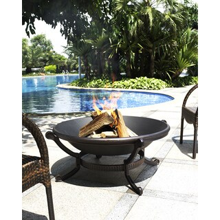 Crosley Furniture Ashland Black Steel Firepit