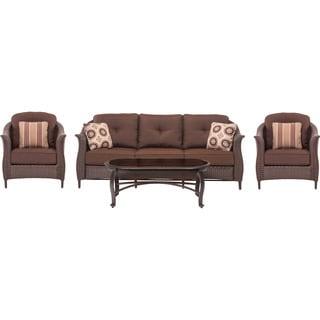 Cambridge Coral Bay Brown 4-piece Wicker Patio Seating Set