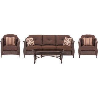 Cambridge Coral Bay Brown 4-piece Wicker Patio Seating Set