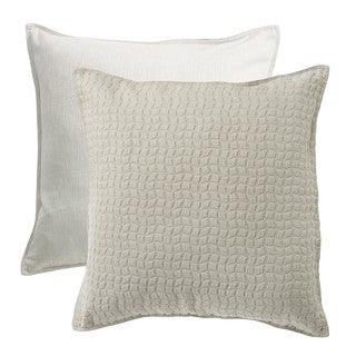 HiEnd Accents Wilshire Reversible Textured Fabric Euro Sham