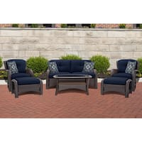 Cambridge Corolla Navy Steel 6-piece Lounge Set